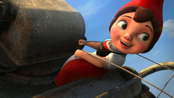 Juliet riding a lawn mower from Disney's Gnomeo and Juliet movie wallpaper