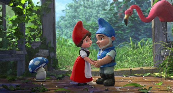 Gnomeo and Juliet hold hands from Disney's movie Gnomeo and Juliet Wallpaper