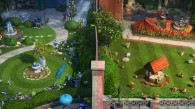 the red and blue gardens from Disney's Gnomeo and Juliet movie wallpaper