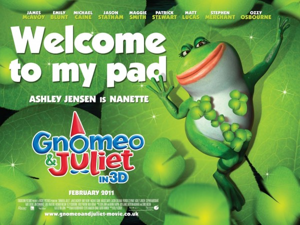 Nanette the frog from Disney's movie Gnomeo and Juliet Wallpaper