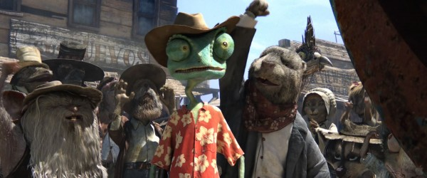 Rango and the townsfolk from the CG animated movie Rango wallpaper
