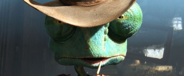 tough looking cowboy Rango the chameleon from the movie Rango wallpaper