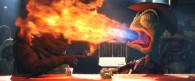 Rango belching fire from the movie Rango wallpaper