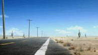 a road in the desert from the movie Rango wallpaper