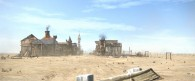 view of the town of Dirt from the CG animated movie Rango wallpaper