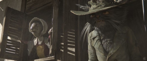 townspeople from the CG animated movie Rango wallpaper
