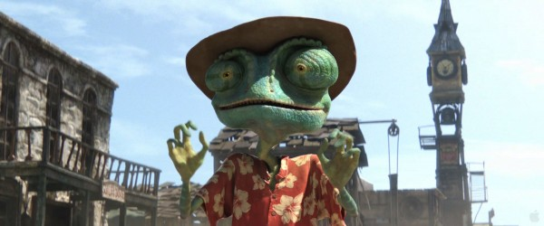 Rango the chameleon from the CG animated movie Rango wallpaper