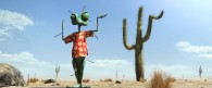 Rango trying to look like a cactus from the CG animated movie Rango wallpaper