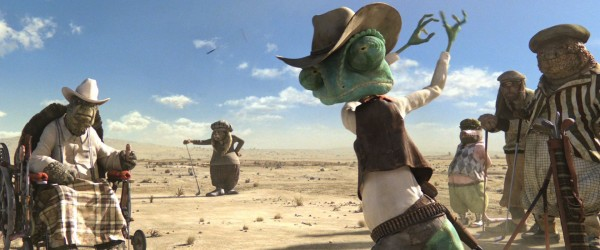 Rango playing gold from the movie Rango Wallpaper