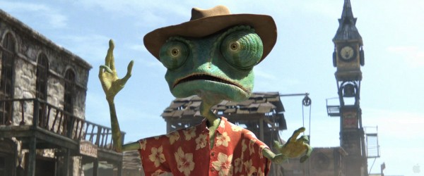 Rango looking surprised from the movie Rango Wallpaper