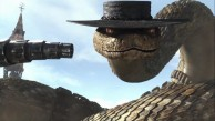Rattlesnake Jake showing the machine gun in his tail, the villain from the 2011 CG animated movie Rango wallpaper