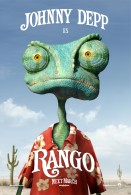 closeup picture of Rango from the CG animated movie wallpaper