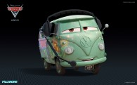 Fillmore the VW bus from Disney's Cars 2 CG animated movie wallpaper
