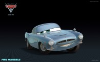 Finn McMissile the British spy from Disney's Cars 2 CG animated movie wallpaper