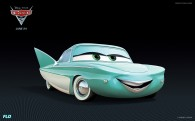 Flo from Disney's Cars 2 CG animated movie wallpaper