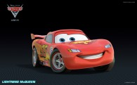 Lightning McQueen the race car from Disney's Cars 2 CG animated movie wallpaper