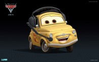 Luigi from Disney's Cars 2 CG animated movie wallpaper