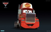 Mack the truck from Disney's Cars 2 CG animated movie wallpaper