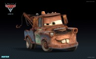 Mater the tow truck from Disney's Cars 2 CG animated movie wallpaper