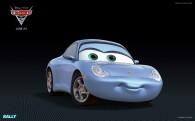 Sally from Disney's Cars 2 CG animated movie wallpaper