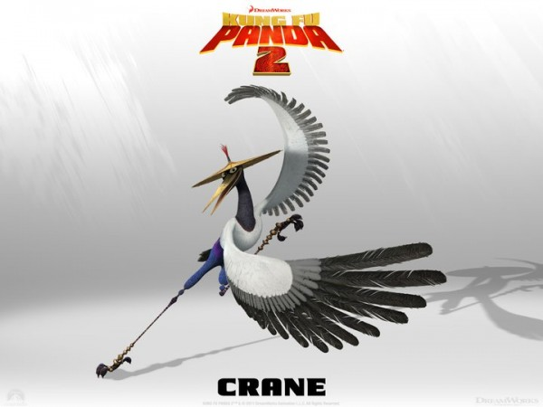 Crane from Kung Fu Panda 2 Dreamworks CG animated movie wallpaper