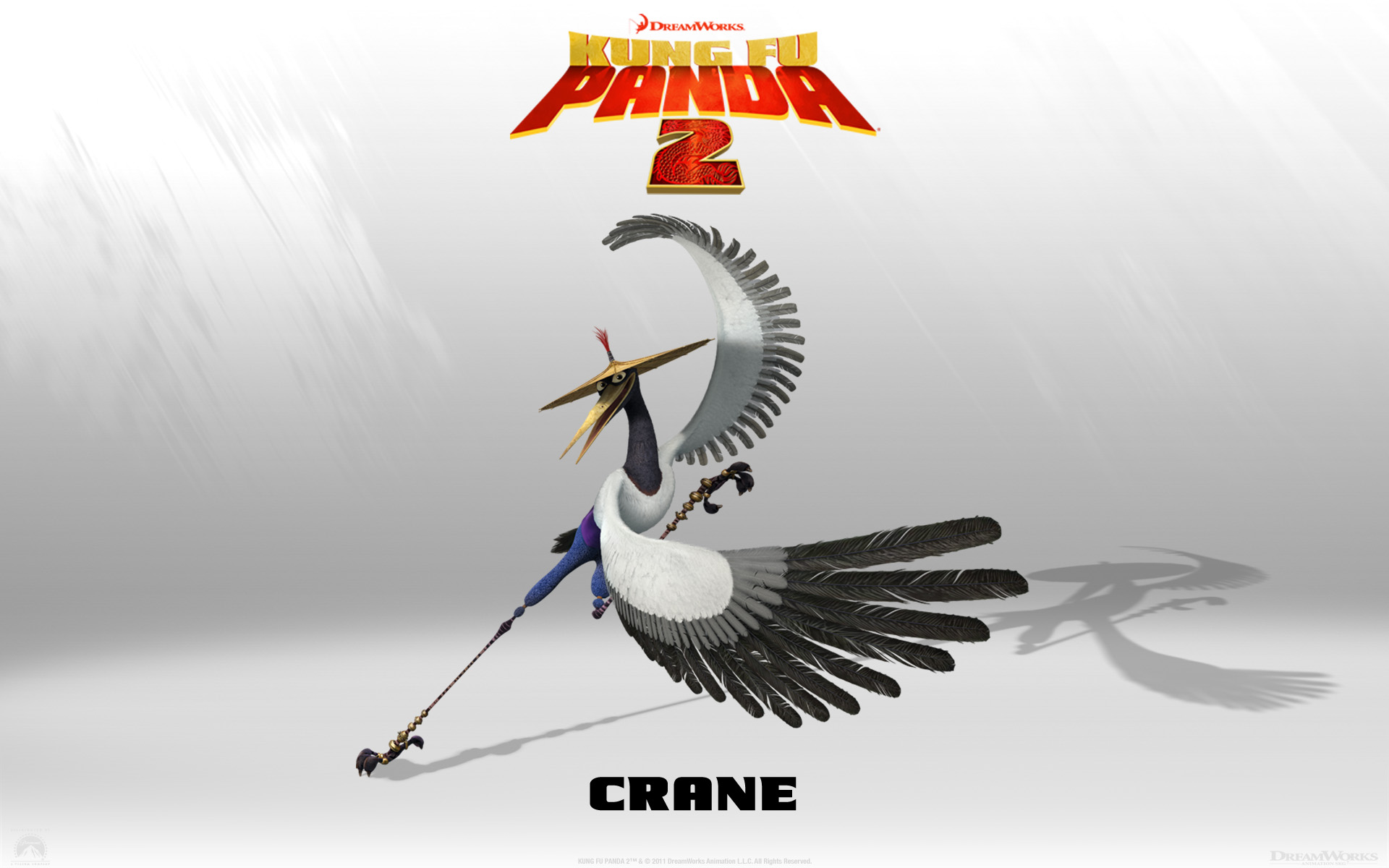 Crane From Kung Fu Panda 2 Movie Wallpaper