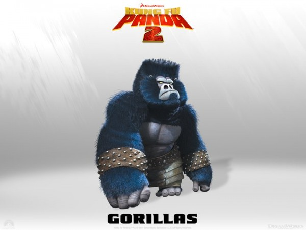 a gorilla from Kung Fu Panda 2 Dreamworks CG animated movie wallpaper