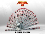 Lord Shen from Kung Fu Panda 2 Dreamworks CG animated movie wallpaper