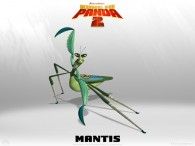 Mantis from Kung Fu Panda 2 Dreamworks CG animated movie wallpaper