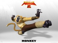 Monkey from Kung Fu Panda 2 Dreamworks CG animated movie wallpaper