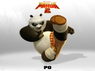 Po the panda from Kung Fu Panda 2 Dreamworks CG animated movie wallpaper