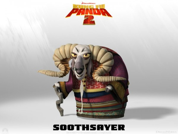 the Soothsayer from Kung Fu Panda 2 Dreamworks CG animated movie wallpaper