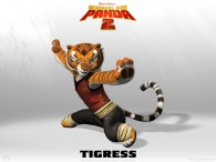 Tigress from Kung Fu Panda 2 Dreamworks CG animated movie wallpaper