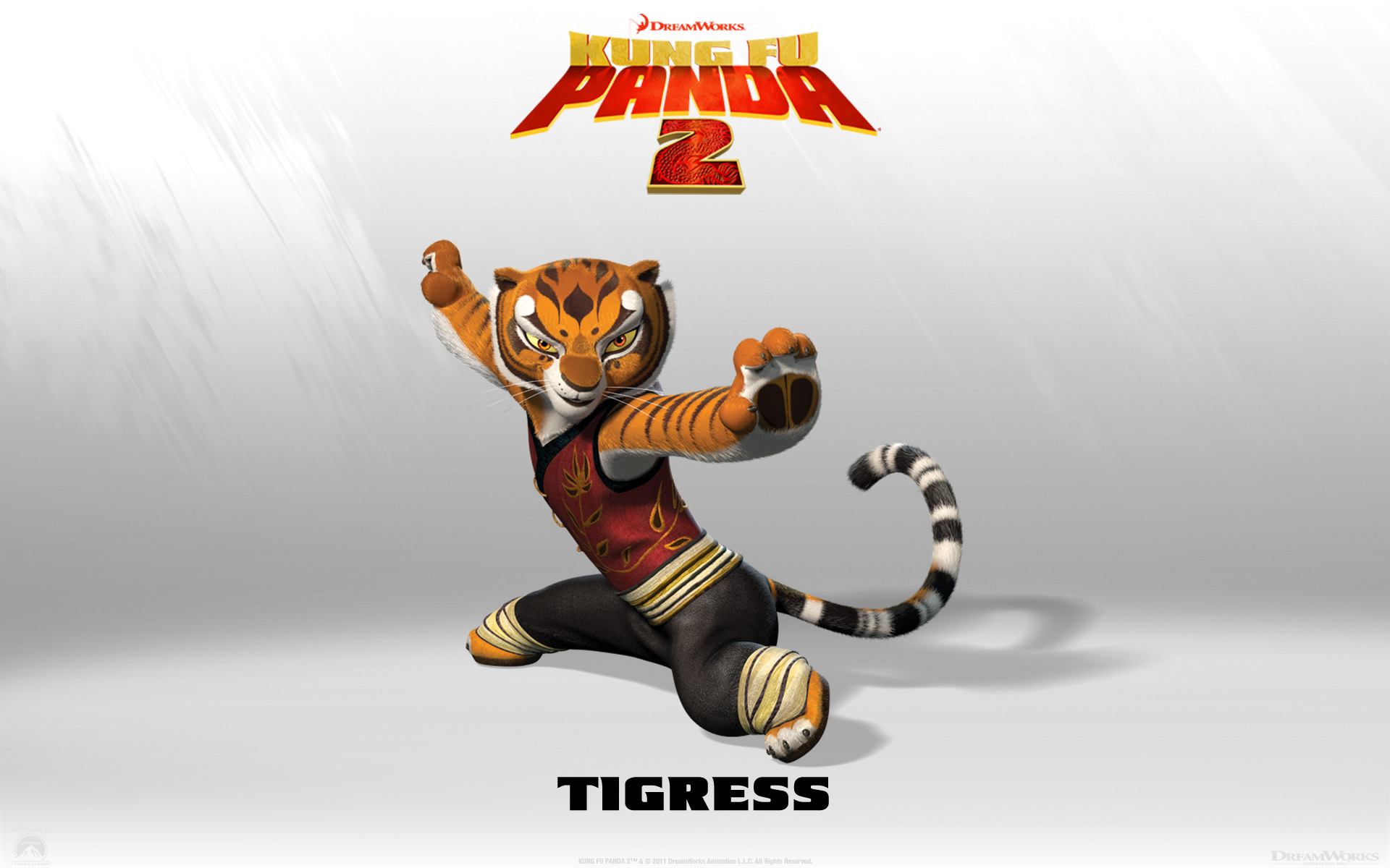 Kung fu panda iphone wallpaper - Tigress From Kung Fu Panda 2 Dreamworks Cg Animated Movie Wallpaper