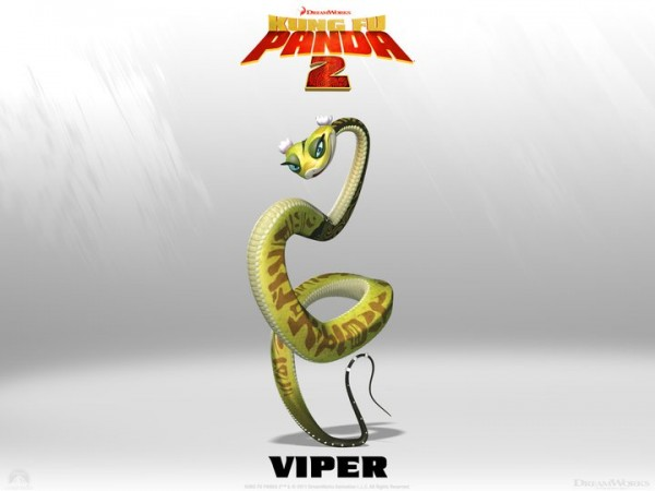 Viper the snake from Kung Fu Panda 2 Dreamworks CG animated movie wallpaper