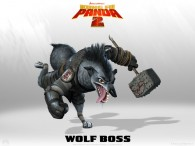 the wolf boss from Kung Fu Panda 2 Dreamworks CG animated movie wallpaper