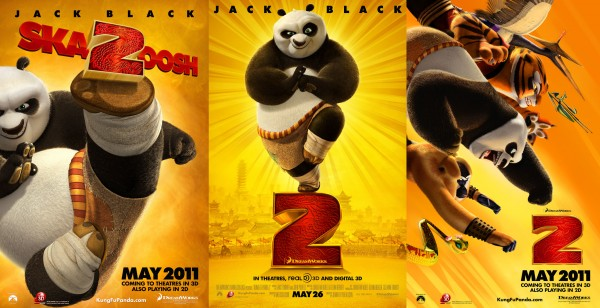 desktop background wallpaper picture for Kung Fu Panda 2 movie showing Po and the Furious Five