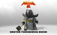 Master Thundering Rhino from Kung Fu Panda 2 animated Movie HD Wallpaper