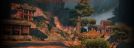 temple in the mountains from Kung Fu Panda 2 movie wallpaper