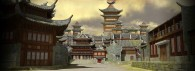 palace courtyard seen in Kung Fu Panda 2 movie wallpaper