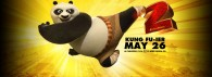 Po doing a high kick from Kung Fu Panda 2 movie wallpaper