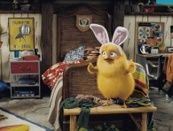 Carlos the chick that wants to be the easter bunny from the CG animated movie Hop from Universal Pictures