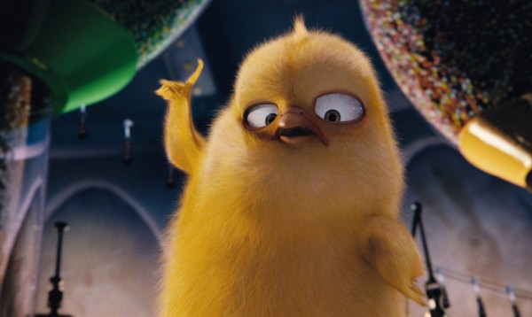 Carlos the chick from the CG animated movie Hop from Universal Pictures