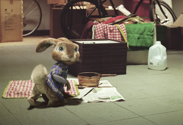 EB the bunny from the CG animated movie Hop from Universal Pictures