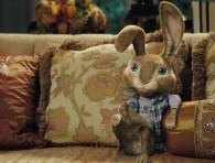 EB the bunny on the couch from the CG animated movie Hop from Universal Pictures
