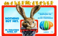 EB the easter bunny in a basketball hoop from the animated movie Hop wallpaper picture