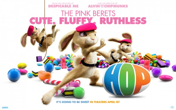 the pink beret bunnies from the animated movie Hop wallpaper picture