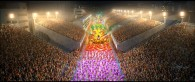 aerial view of the Carnival parade in Rio de Janeiro from the animated movie Rio wallpaper picture