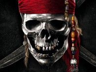 silver skull logo from Pirates of the Caribbean movie wallpaper