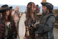Jack Sparrow, Blackbeard and Angelica from Pirates of the Caribbean On Stranger Tides movie wallpaper